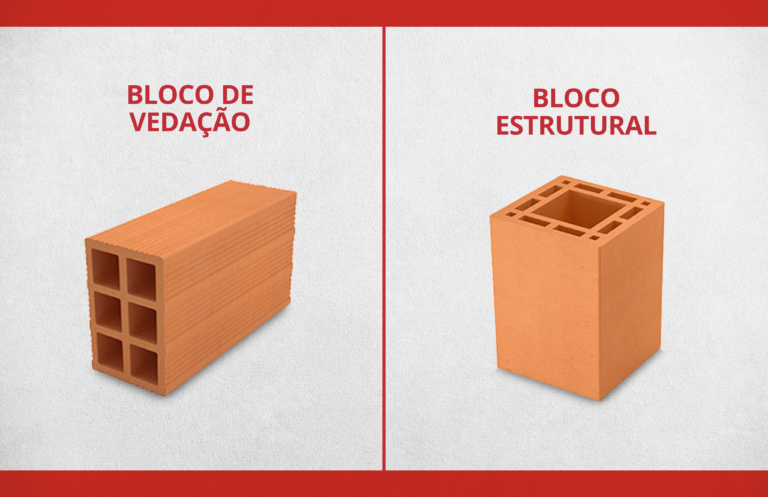 Você sabe a diferença entre bloco de vedação e estrutural?